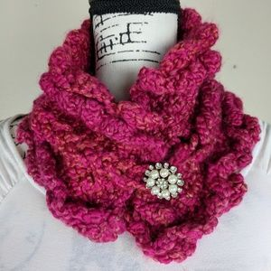 Brand new, hand- crochet women's scarf.